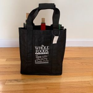 NWT Reusable Whole Foods Wine Tote for 6 bottles